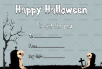 Halloween Gift Certificate Mummy 1040 In 2020 With intended for Halloween Gift Certificate Template Free