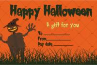 Halloween Gift Certificate Scarecrow Costume  Gct for Amazing Halloween Gift Certificate Template Free