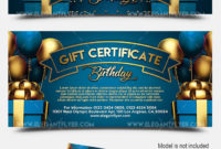 Happy Birthday Gift Certificate Template Elegantflyer with regard to Free Birthday Gift Certificate