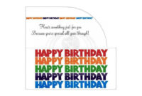 Happy Birthday Money Gift Card Envelope Printable Pdf with regard to Free Happy Birthday Gift Certificate