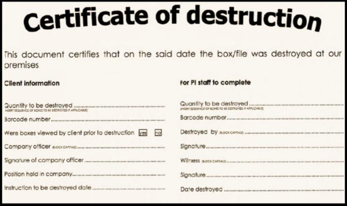 Hard Drive Destruction Certificate Template  Templates pertaining to Free Hard Drive Destruction Certificate Template