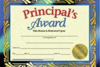 Hayes School Publishing Hva689 Principals Award  Award throughout Amazing Hayes Certificate Templates
