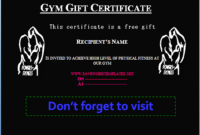 Health Gift Certificate Templates  Free Gift Certificate regarding Fitness Gift Certificate Template