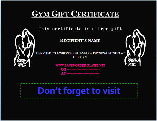 Health Gift Certificate Templates  Free Gift Certificate with regard to Gift Certificate Log Template