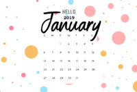 Hello January 2019 Calendar Wallpaper  Calendar Wallpaper with Free Happy New Year Certificate Template Free 2019 Ideas
