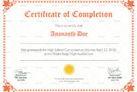 High School Diploma Certificate Design Template In Psd Word with regard to Academic Certificate