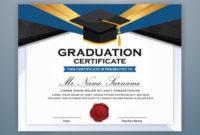 High School Diploma Certificate Template Design With in College Graduation Certificate Template