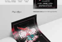 Hip Hop Dance  Premium Psd Flyer Template Elegantflyer with Printable Hip Hop Certificate Templates