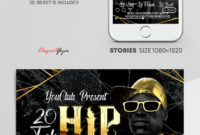 Hip Hop  Instagram Stories Template In Psd  Post inside Printable Hip Hop Certificate Templates