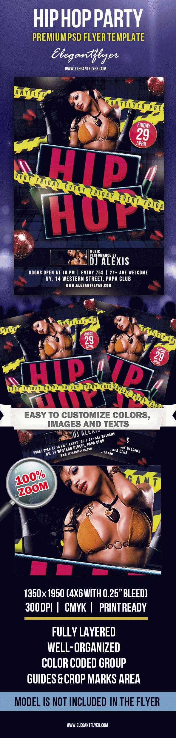 Hip Hop Party  Premium Club Flyer Psd Template with Hip Hop Certificate Template 6 Explosive Ideas