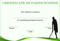Hockey Participation Certificate  Certificate Templates regarding Amazing Youth Football Certificate Templates