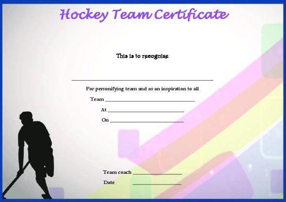 Hockey Team Certificate Template  Certificate Templates throughout Hockey Certificate Templates