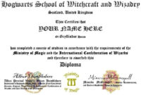 Hogwarts Id And Diploma Templates  Harry Potter Amino inside Harry Potter Certificate Template