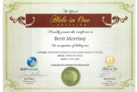 Hole In One Certificate Template  Williamsonga regarding Golf Certificate Templates For Word