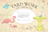 Homemade Gift Certificates  Template Business in Quality Homemade Gift Certificate Template