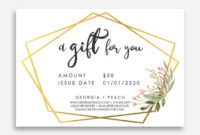 Homemade Gift Voucher Template  Make Your Own Gift intended for Homemade Gift Certificate Template