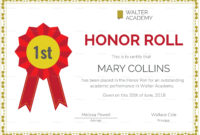 Honor Roll Certificate Template  11 Template Ideas intended for Printable Honor Award Certificate Template