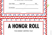 Honor Roll Certificates Stock Vector Illustration Of in Printable Honor Award Certificate Templates