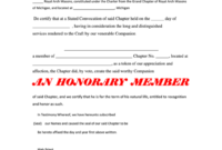 Honorary Membership Certificate Printable Pdf Download with Life Membership Certificate Templates