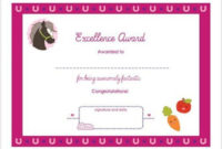 Horse Theme Award Certificate  Free Printable inside Free Donation Certificate Template Free 14 Awards