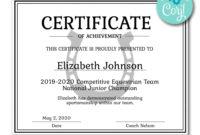 Horseshoe Certificate  Certificates  Printable Award regarding Softball Award Certificate Template