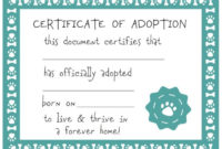 Host An Adopt A Puppy Party  Pet Adoption Certificate inside Puppy Birth Certificate Free Printable 8 Ideas