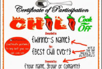 Hosting A Chili Cookoff In 5 Easy Steps With Printables intended for Printable Cooking Competition Certificate Templates