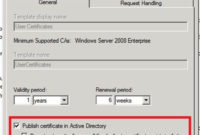 How To Avoid Having Users Enroll For Multiple Certificates with regard to Active Directory Certificate Templates