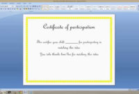 How To Create A Certificate On Ms Word 2007  Youtube inside Quality Free Certificate Templates For Word 2007