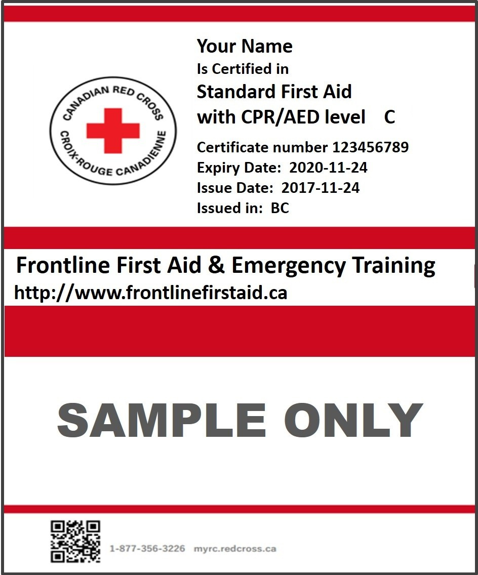 How To Get A Copy Of Your Certificate Kelowna First Aid with Printable First Aid Certificate Template Free