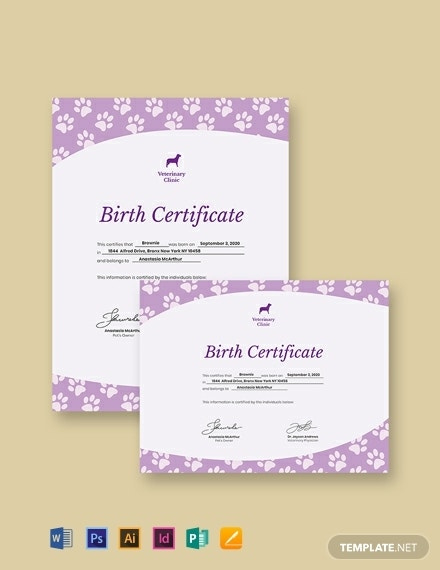 How To Make A Birth Certificate 12 Templates  Free with Amazing Pet Birth Certificate Template 24 Choices