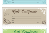 How To Make An Appealing Gift Certificate In Ms Word pertaining to Microsoft Gift Certificate Template Free Word