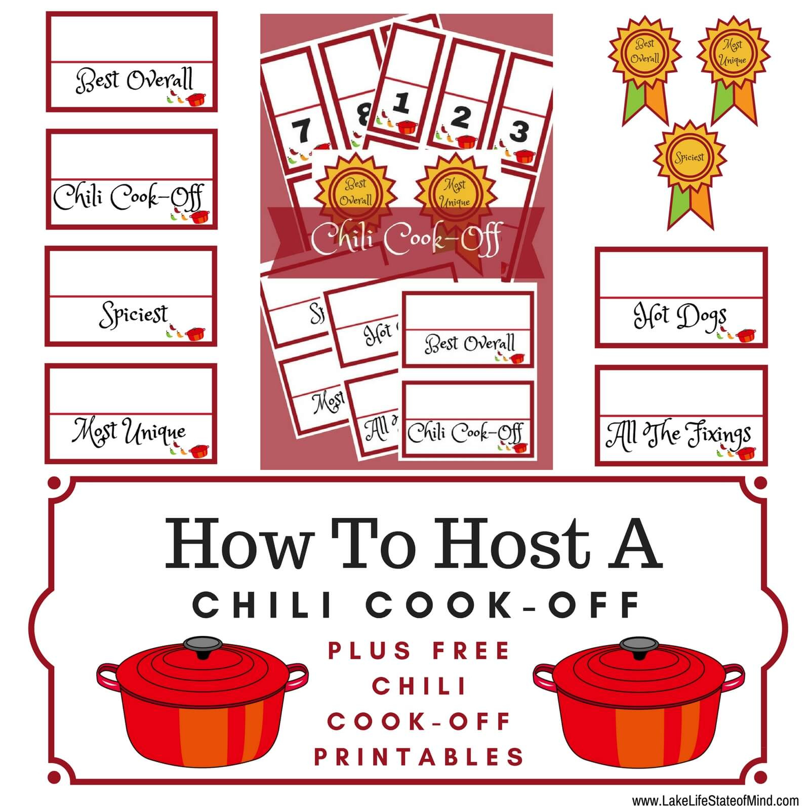 How To Throw The Ultimate Chili Cook Off Lake Life State regarding Chili Cook Off Certificate Templates