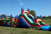 Huge Inflatable Obstacle Course Rentals  Miami Party pertaining to Water Damage Drying Log Template
