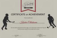 Ice Hockey Achievement Certificate Template With Hockey in Hockey Certificate Templates