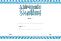 Ice Skating Certificates  10 Frozen Template Designs within Table Tennis Certificate Template Free