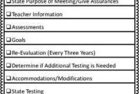 Iep Meeting Checklistbalancing Behavior  Teachers Pay throughout Teacher Team Meeting Agenda Template