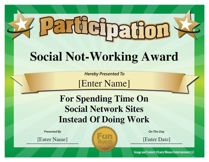 Image Result For Funny Employee Award Categories  Funny throughout Best Certificate Of Job Promotion Template 7 Ideas