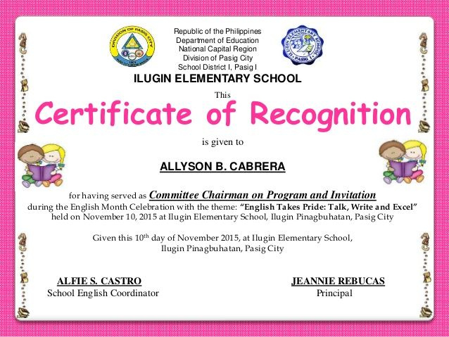 Image Result For Sample Of Certificate Of Recognition For inside Amazing Honor Roll Certificate Template Free 7 Ideas