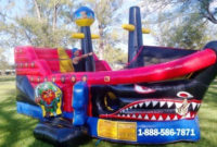 Inflatable Pirate Ship Bounce House  Miami Party Rentals in Water Damage Drying Log Template