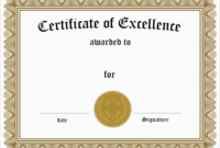 Inspirational Award Certificate Template Free Best Of inside Printable Math Certificate Template 7 Excellence Award
