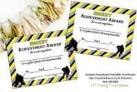 Instant Download  Hockey Certificate  Hockey Award pertaining to Awesome Hockey Certificate Templates