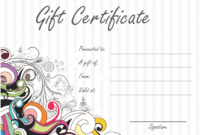 Jazzy Swirls Gift Certificate Template throughout Awesome Free Wedding Gift Certificate Template Word 7 Ideas