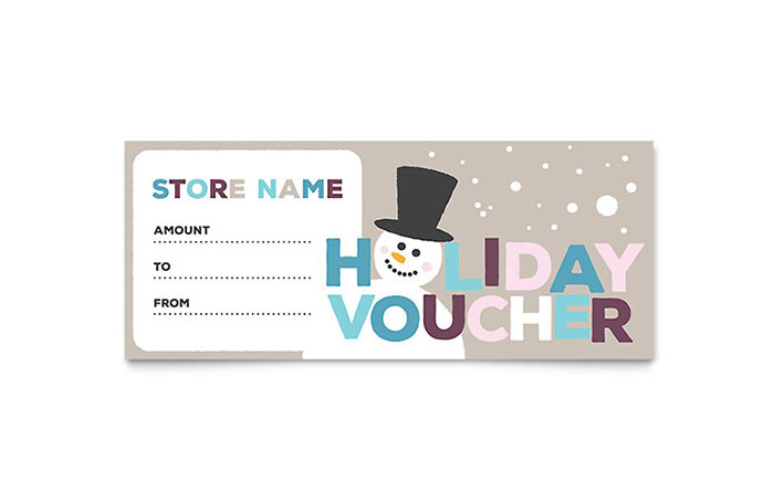 Jolly Holidays Gift Certificate Template Design with regard to Best Gift Certificate Template Indesign