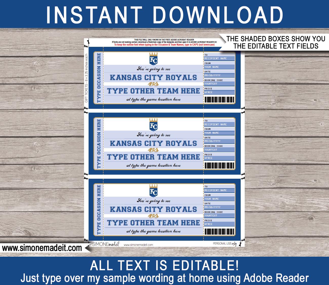 Kansas City Royals Game Ticket Gift Voucher  Printable throughout 5K Race Certificate Template 7 Extraordinary Ideas