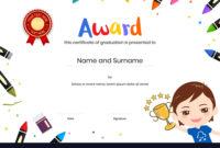 Kids Diploma Or Certificate Template With Regarding with Amazing Daycare Diploma Certificate Templates