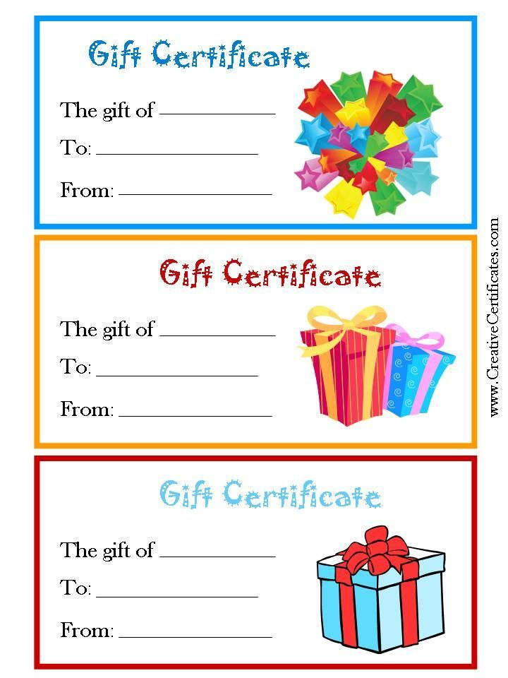 Kids Gift Certificate Template 3  Templates Example in Amazing Free Kids Certificate Templates