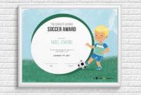 Kids Soccer Award Certificate  Soccer Awards Award for Awesome Soccer Certificate Templates For Word