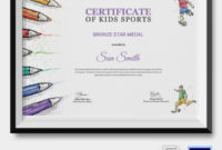Kids Sports Certificate  5 Word Psd Format Download with regard to Sports Award Certificate Template Word