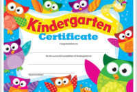 Kindergarten Certificate Owlstars  30 Ct  T17009 with Amazing First Day Of School Certificate Templates Free